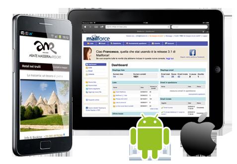 Applicazioni e soluzioni per dispositivi mobili: smartphone e tablet iPhone/iPad/Android/Web