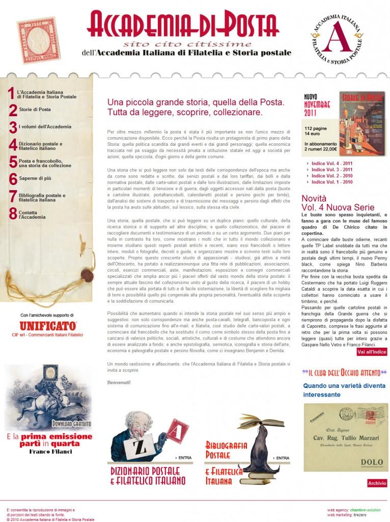 Il sito ufficiale dell'Accademia Italiana di Filatelia e ...